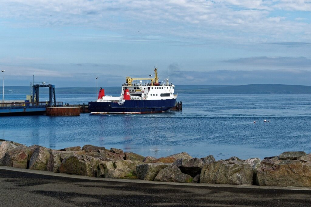 ferry, ferry port, loth